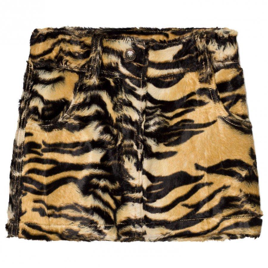 Caroline Bosmans Furry Skirt Tiger Lyhyt Hame