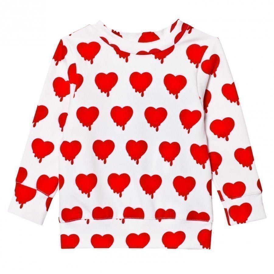 Caroline Bosmans Hope 2.0 Sweatshirt Fleece Heart White Oloasun Paita