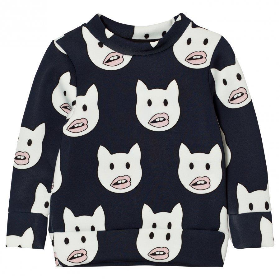 Caroline Bosmans Neoprene Sweater Emoticat Oloasun Paita