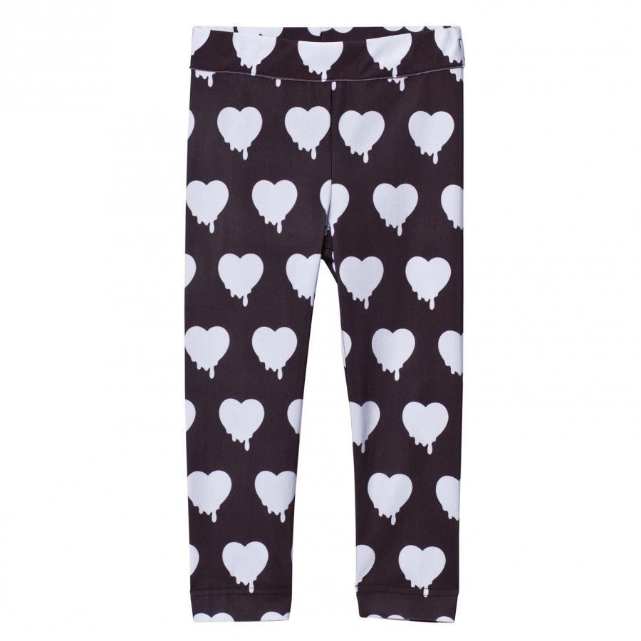 Caroline Bosmans Peace For President Printed Leggings Heart Black Legginsit