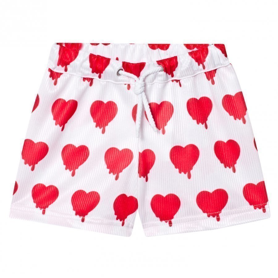 Caroline Bosmans Peace For President Shiny Wide Shorts Heart White Oloasun Shortsit