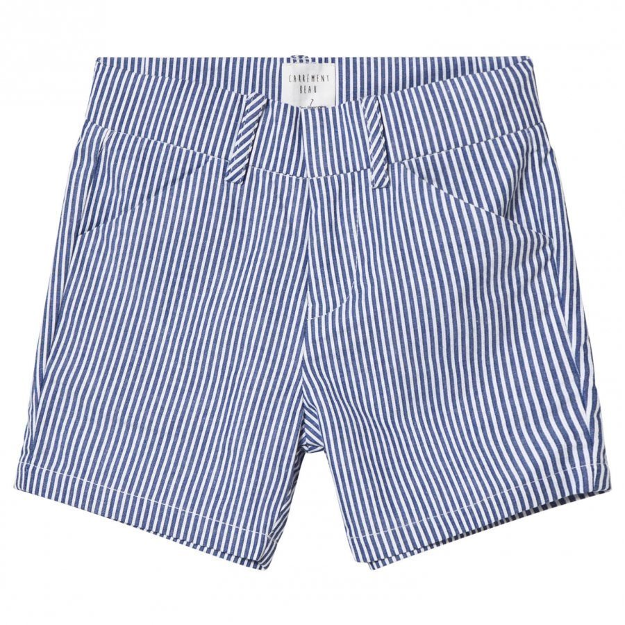 Carrément Beau Blue And White Stripe Cotton Shorts Shortsit