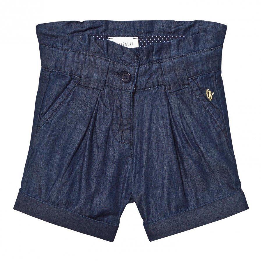 Carrément Beau Blue Pleated Indigo Shorts Lyhyt Hame