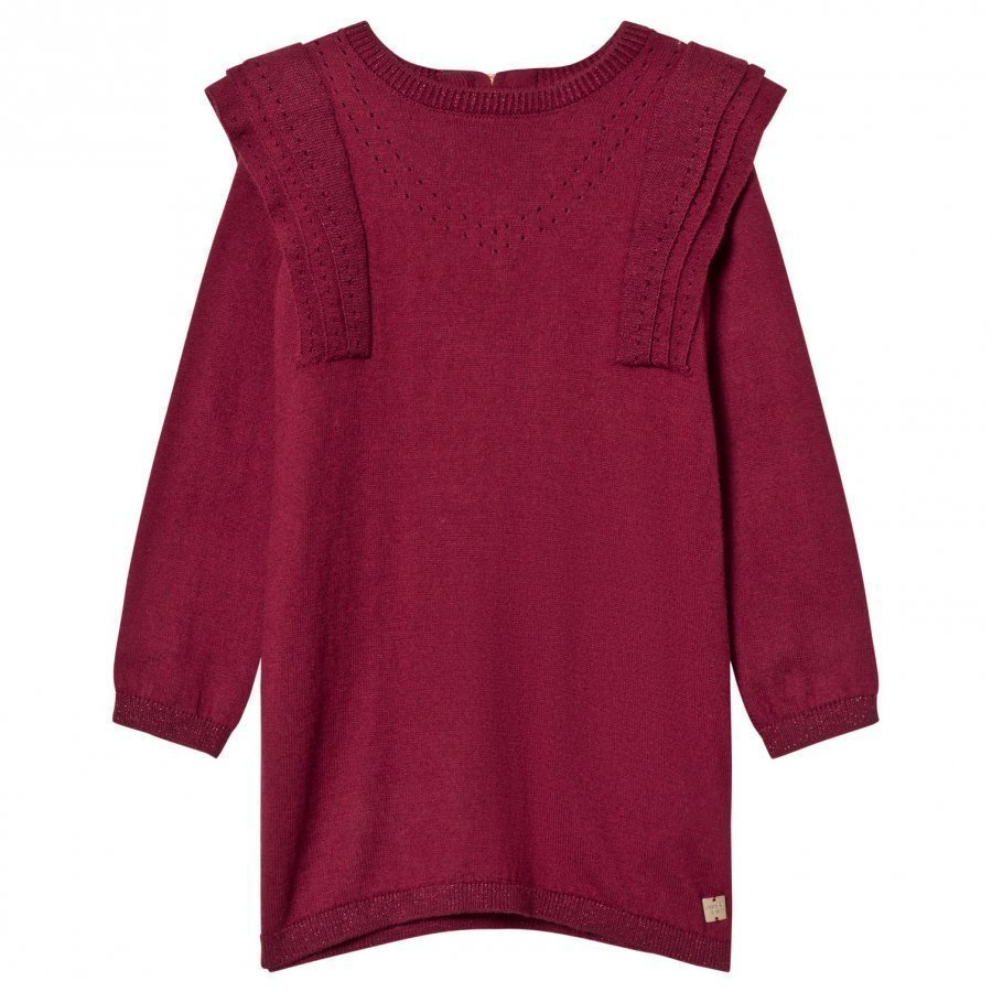 Carrément Beau Burgundy Knit Sweater Dress Mekko