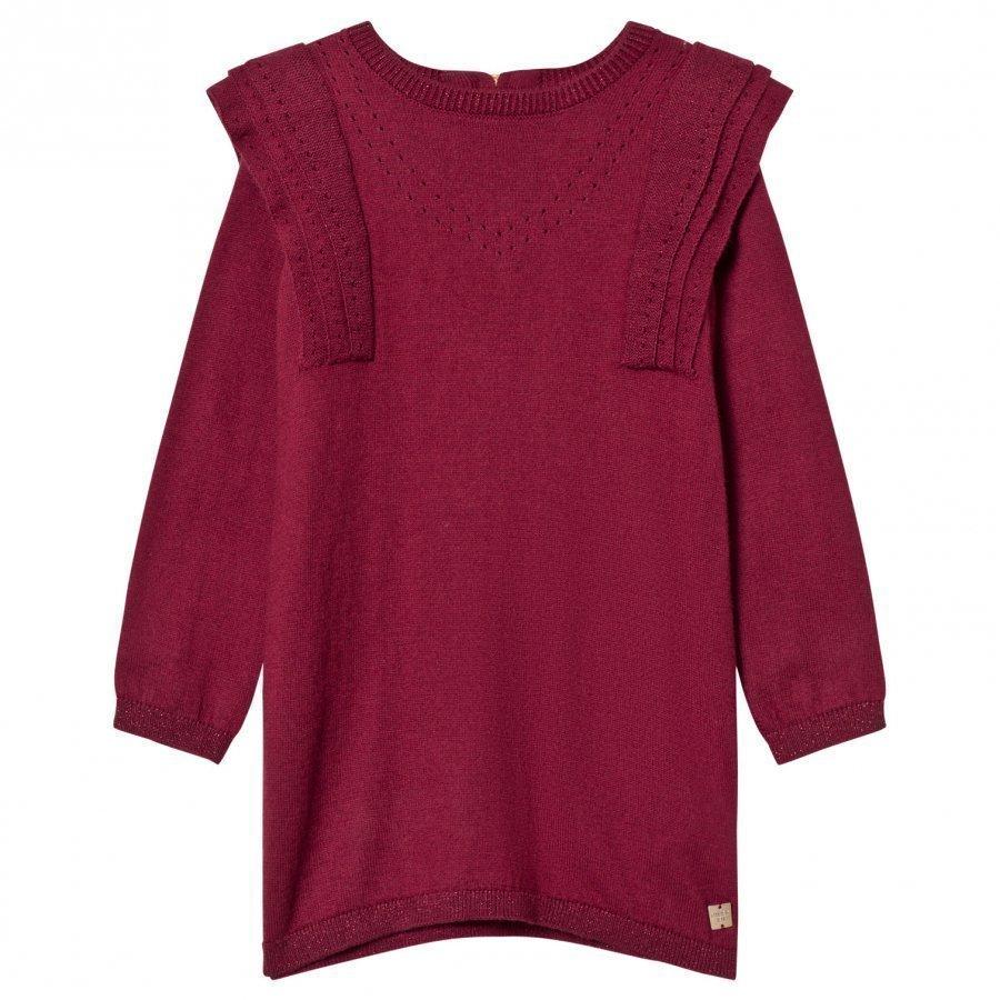 Carrément Beau Burgundy Knit Sweater Dress Mekko