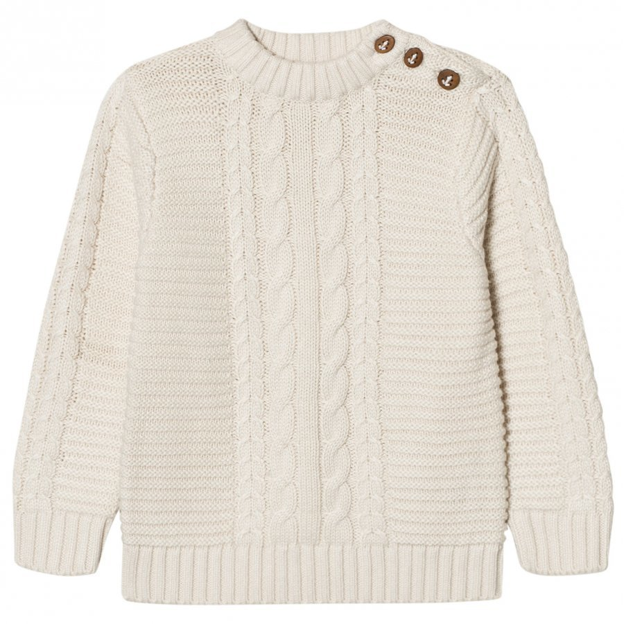 Carrément Beau Cream Cable Rib Knit Jumper Paita