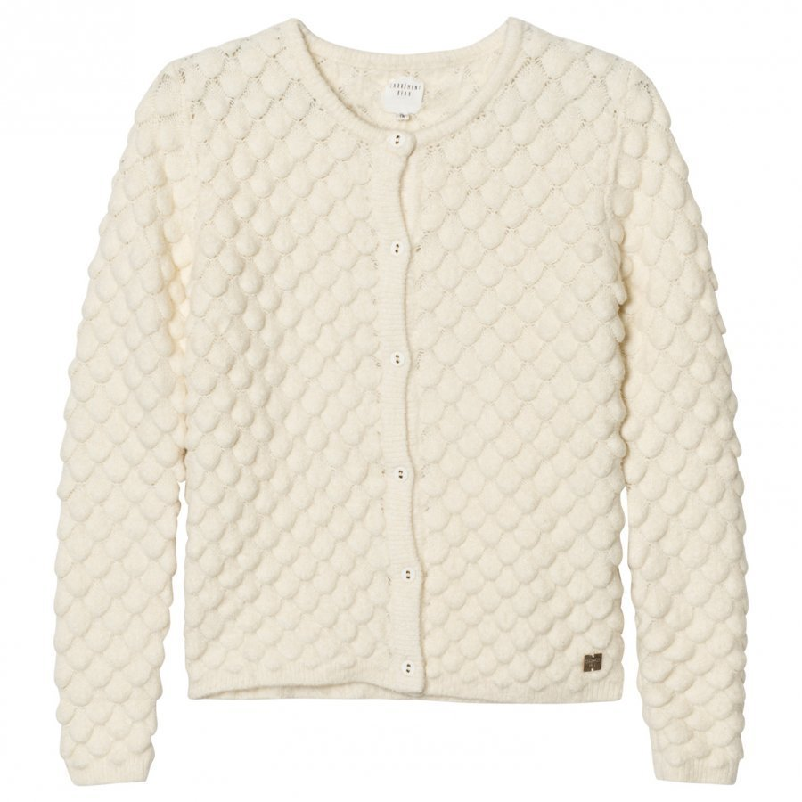 Carrément Beau Cream Textured Knit Cardigan Neuletakki