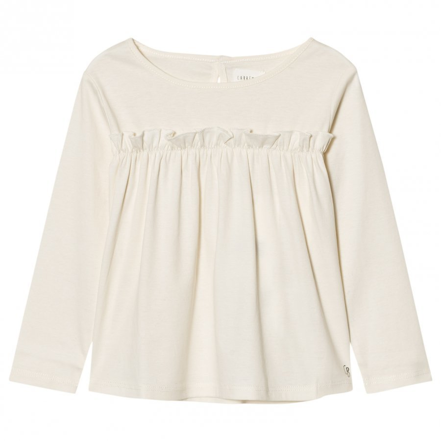 Carrément Beau Gathered Front Tee Cream T-Paita