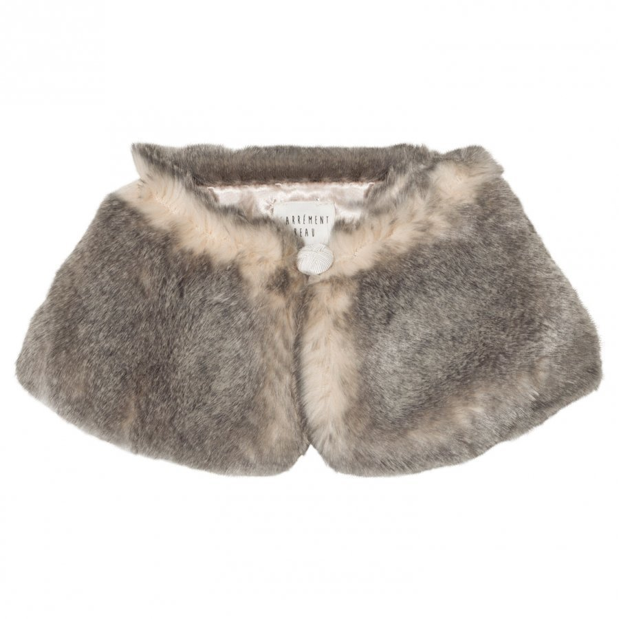 Carrément Beau Grey Faux Fur Collar Huivi