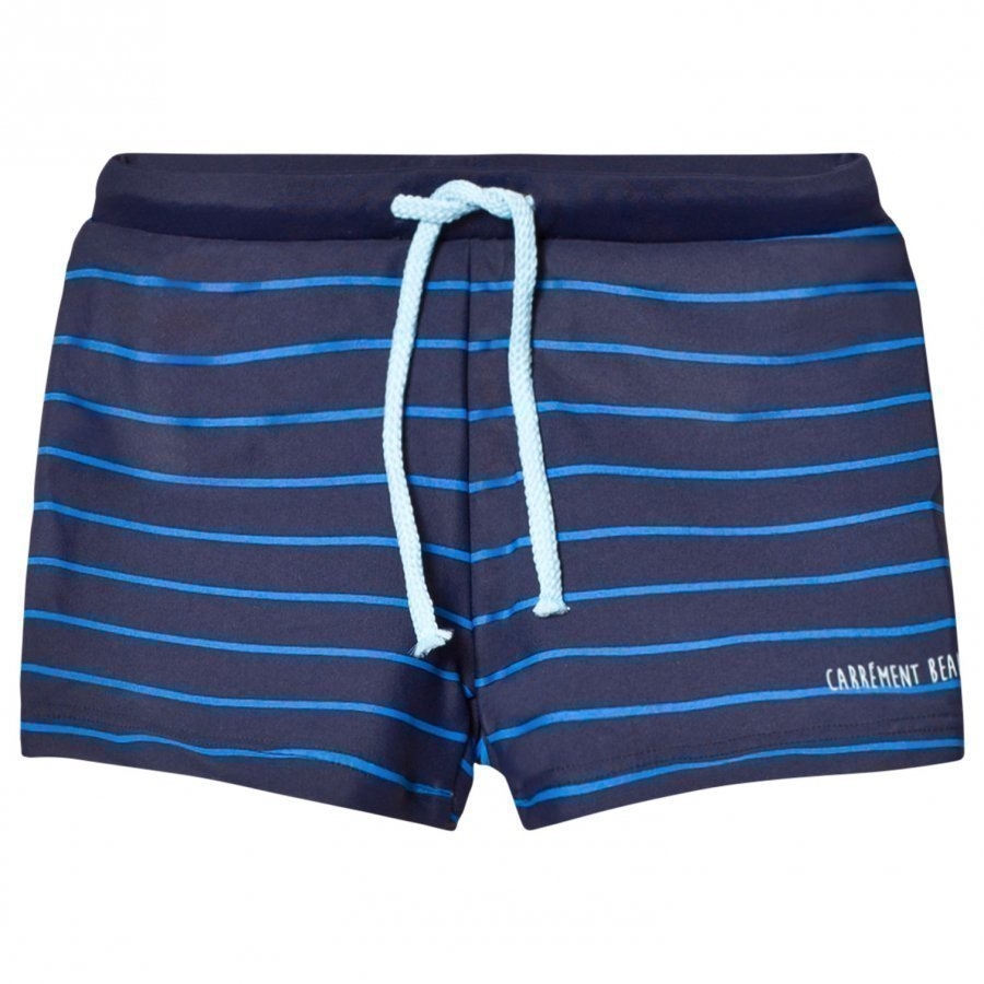 Carrément Beau Navy And Blue Stripe Swim Shorts Uimahousut