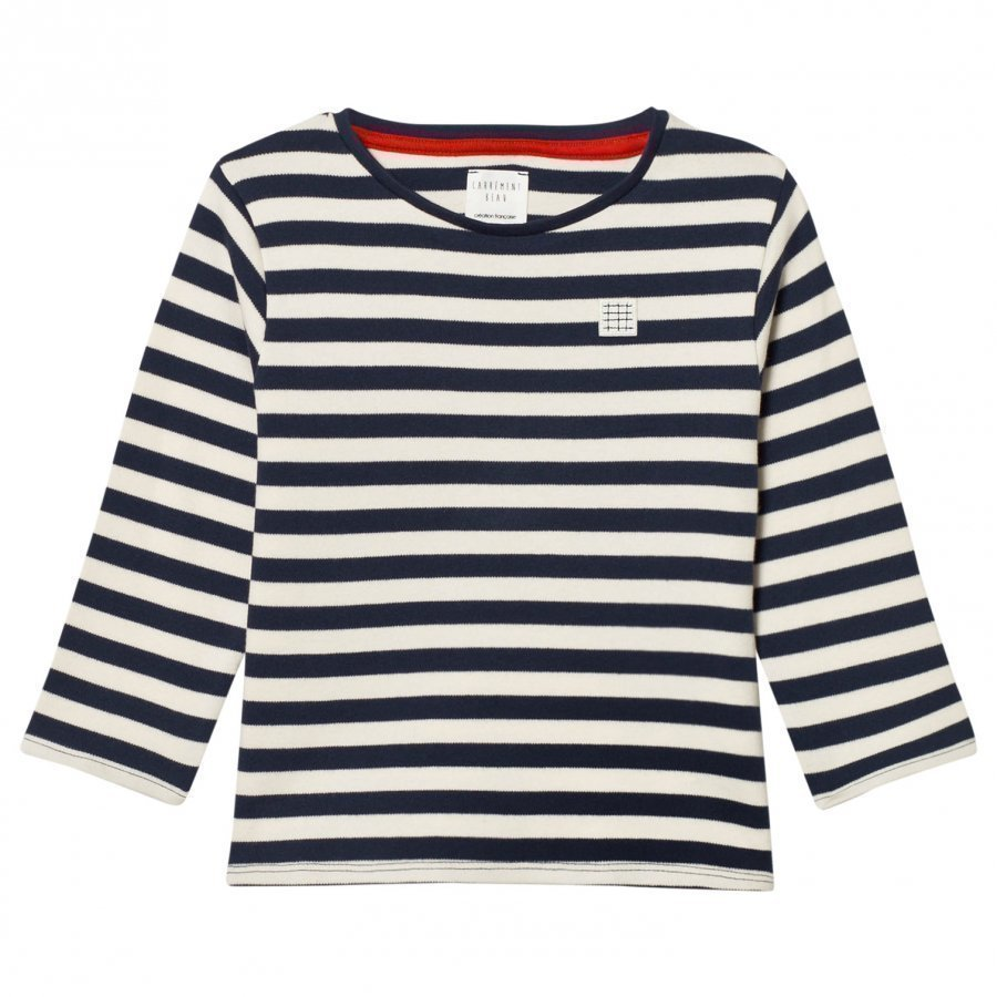 Carrément Beau Navy And White Long Tee T-Paita