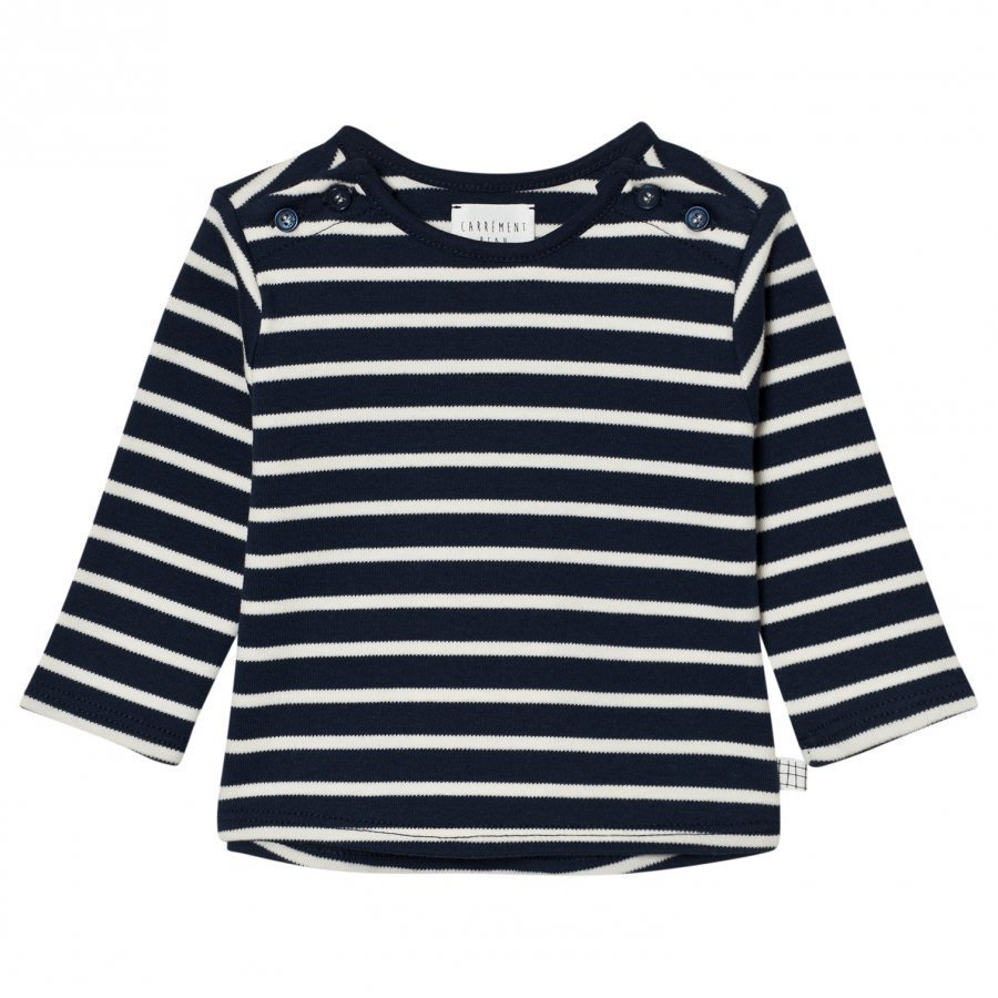 Carrément Beau Navy And White Stripe Tee T-Paita