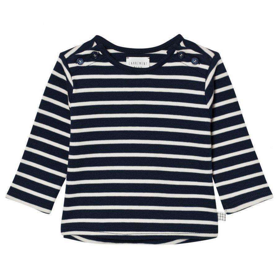 Carrément Beau Navy And White Stripe Tee T-Paita