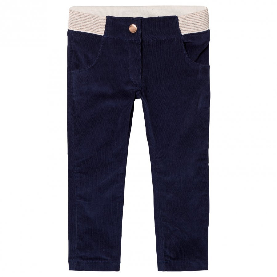 Carrément Beau Navy Corduroy Slim Pants Housut
