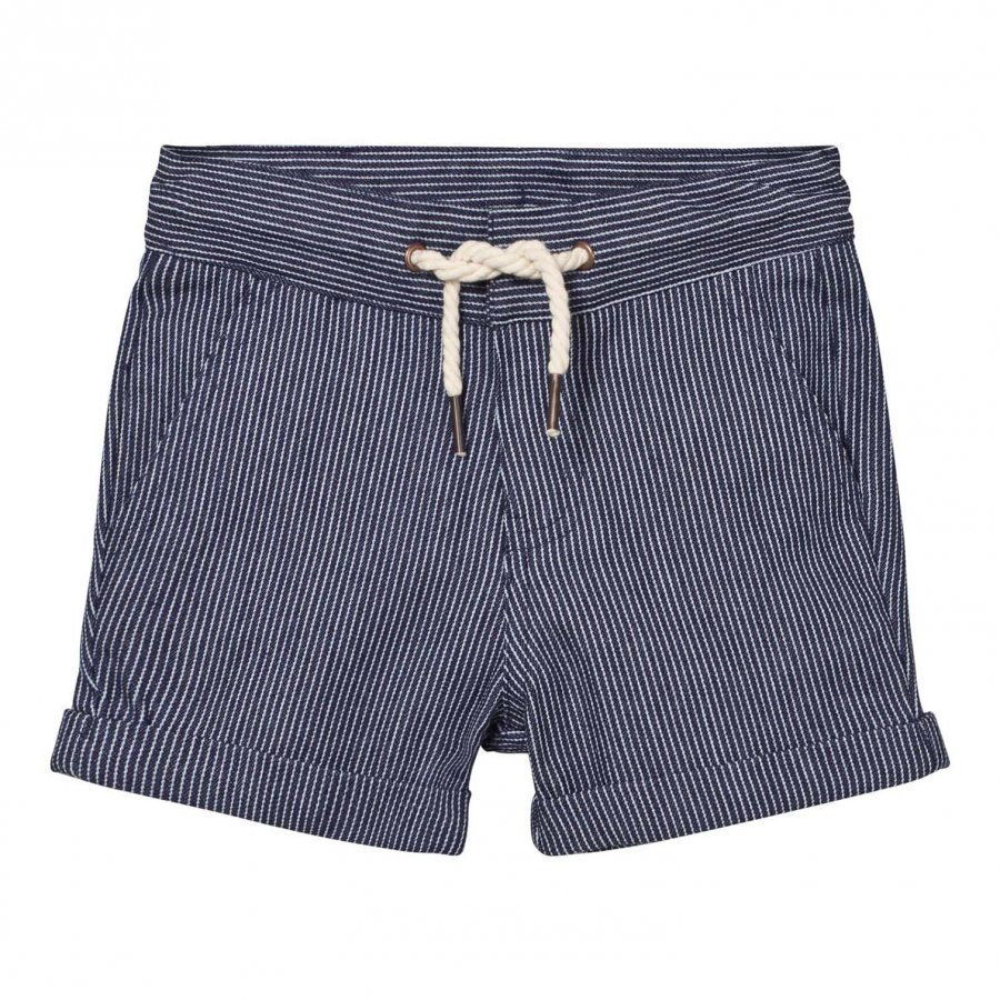 Carrément Beau Navy Stripe Shorts With Drawcord Waist Juhlashortsit