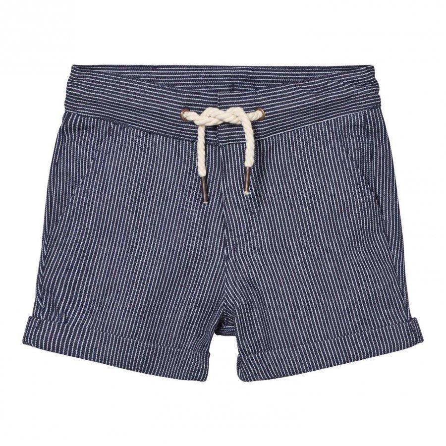 Carrément Beau Navy Stripe Shorts With Drawcord Waist Juhlashortsit