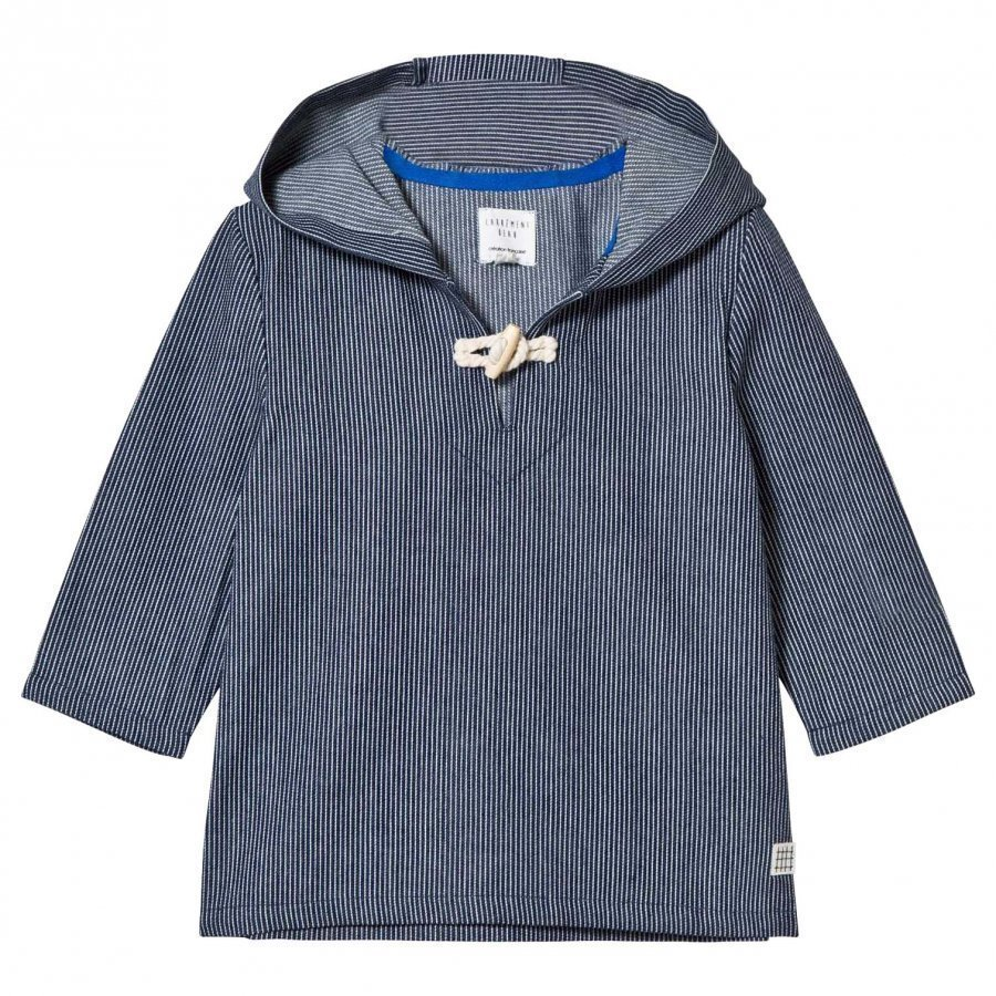 Carrément Beau Navy Woven Hooded Nautical Smock Huppari