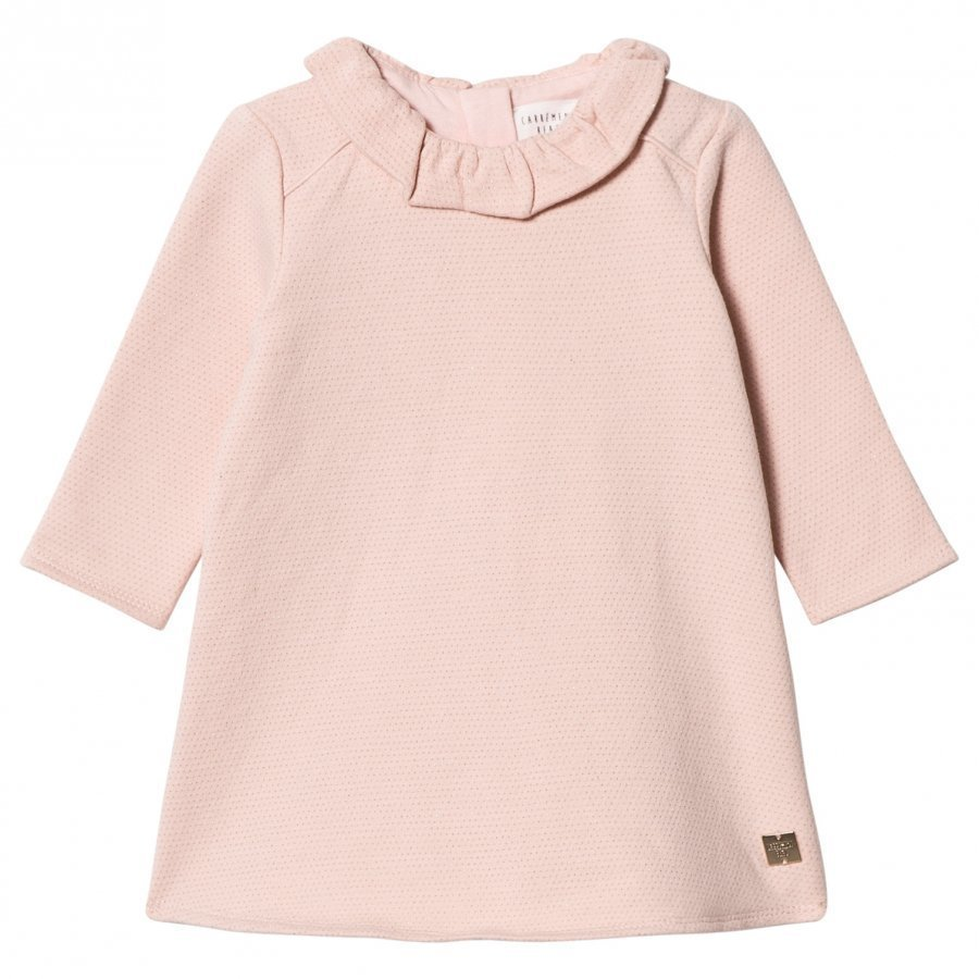 Carrément Beau Pale Pink Lurex Sweat Dress Mekko