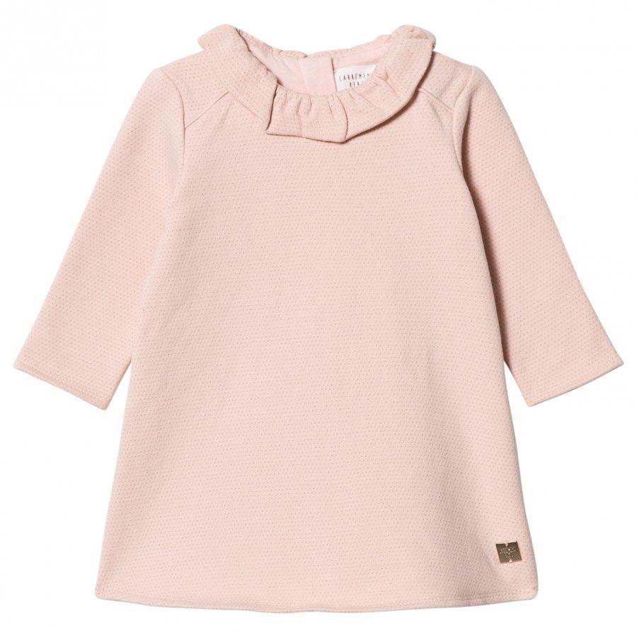 Carrément Beau Pale Pink Lurex Sweat Dress Mekko