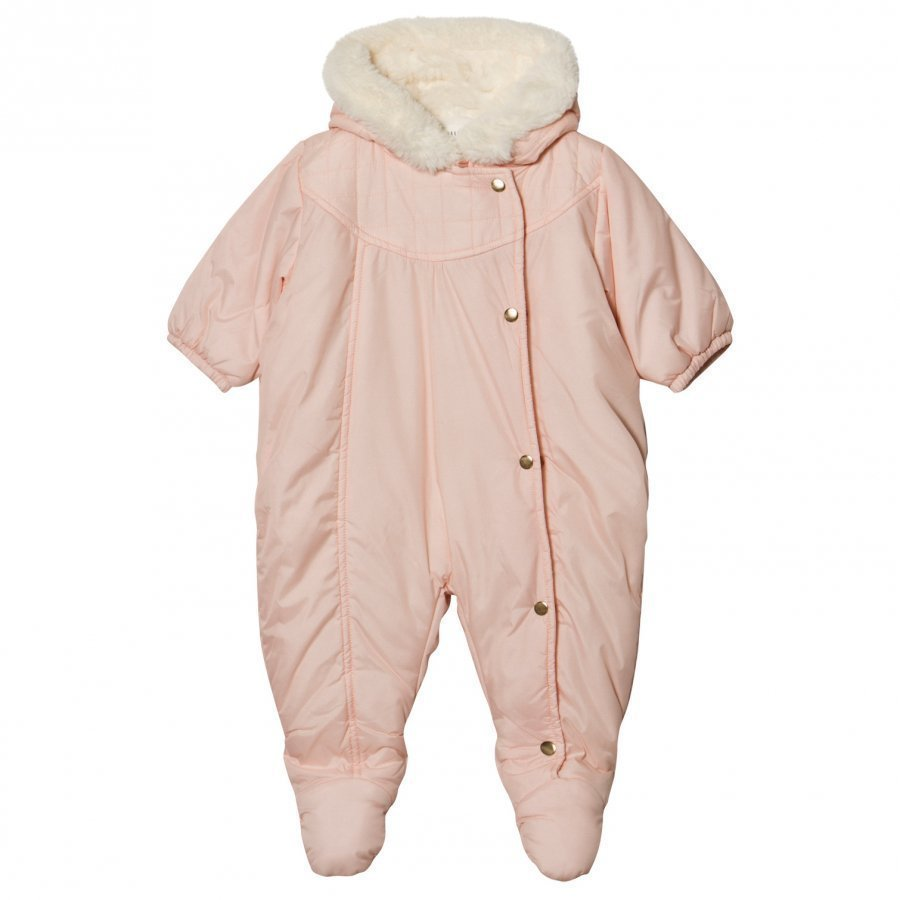 Carrément Beau Pale Pink Padded Hooded Coverall Vauvan Haalari
