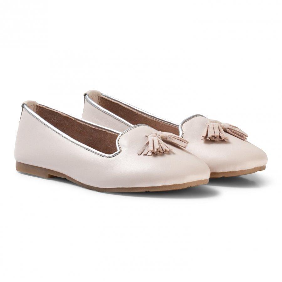 Carrément Beau Pale Pink Tassled Pumps Ballerinat