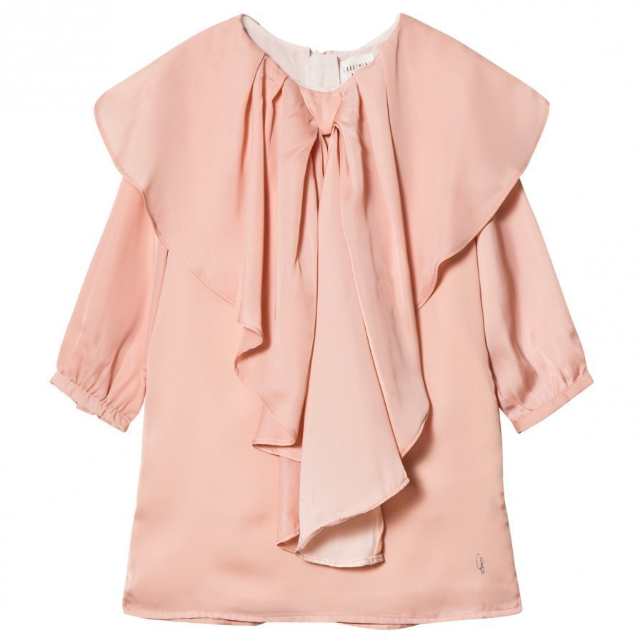 Carrément Beau Pink Bow Satin Dress Juhlamekko