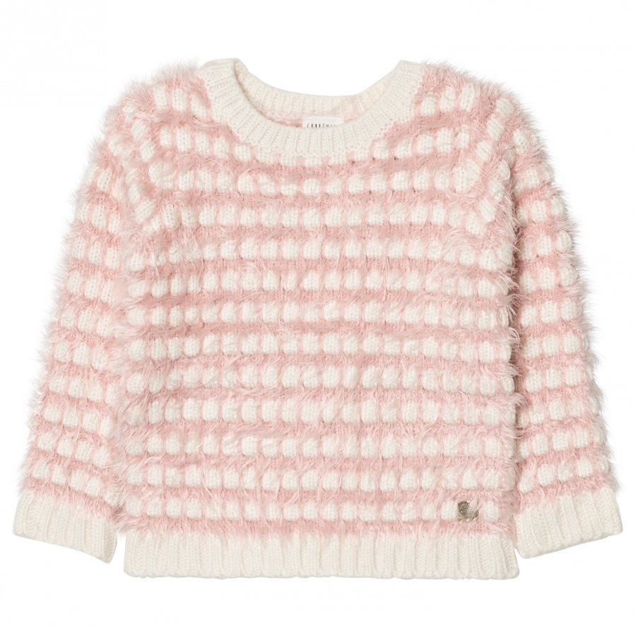 Carrément Beau Pink Cream Fluffy Jumper Paita
