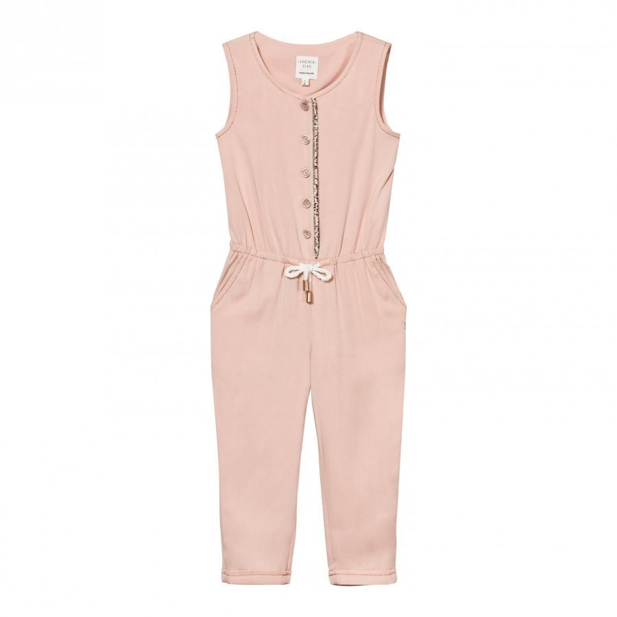 Carrément Beau Pink Jumpsuit With Rose Gold Trim Potkupuku