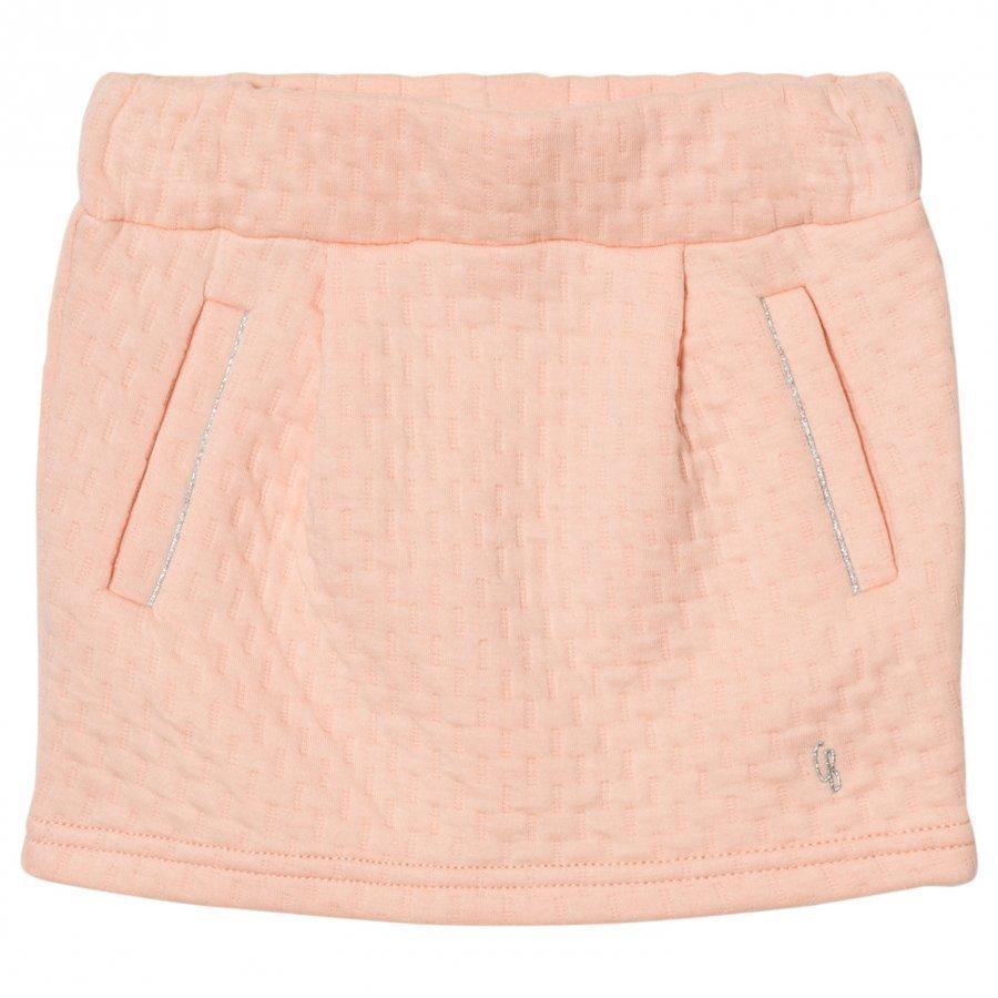 Carrément Beau Pink Textured Skirt Lyhyt Hame