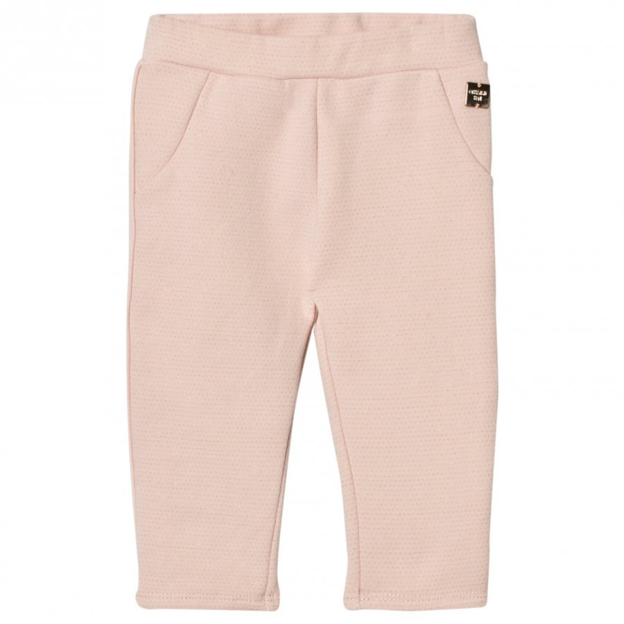 Carrément Beau Pink/Gold Lurex Sweat Pants Verryttelyhousut