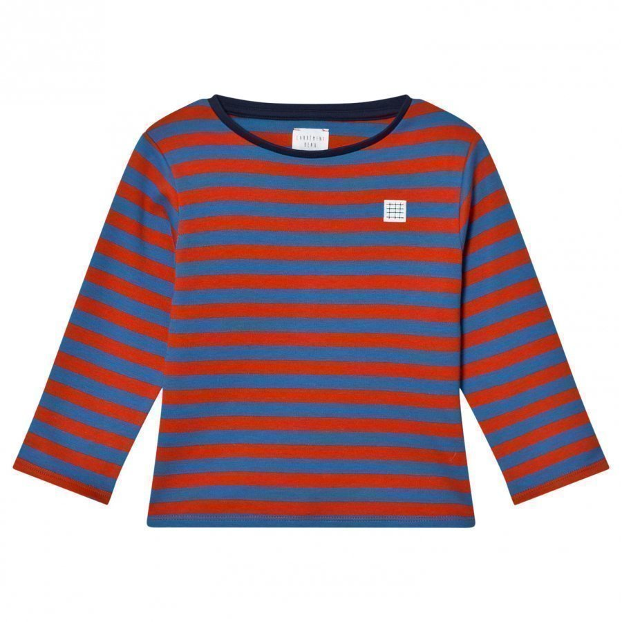 Carrément Beau Red And Blue Long Tee T-Paita