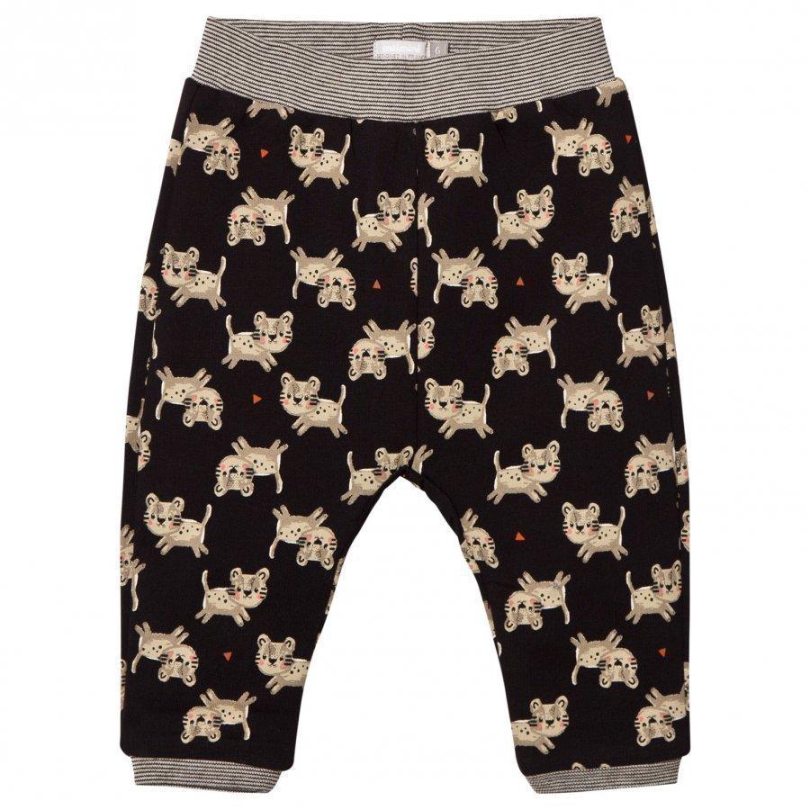 Catimini Black Tiger Print Soft Pants Verryttelyhousut