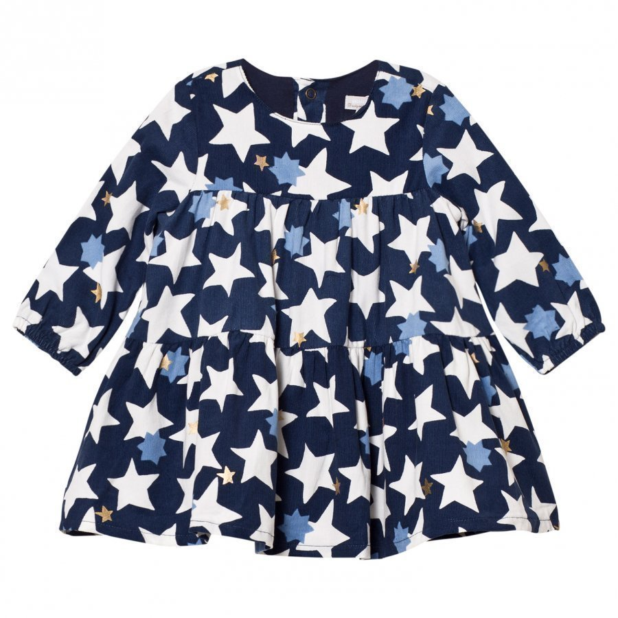Catimini Blue Star Micro-Cord Dress Mekko