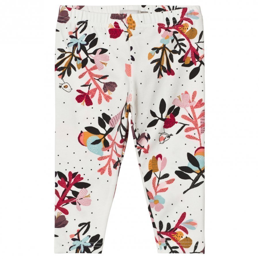 Catimini Cream Flower And Bird Print Leggings Legginsit