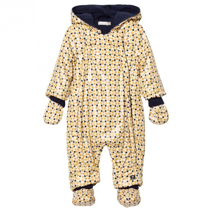 Catimini Cream Spots And Stars Coverall Toppahaalari