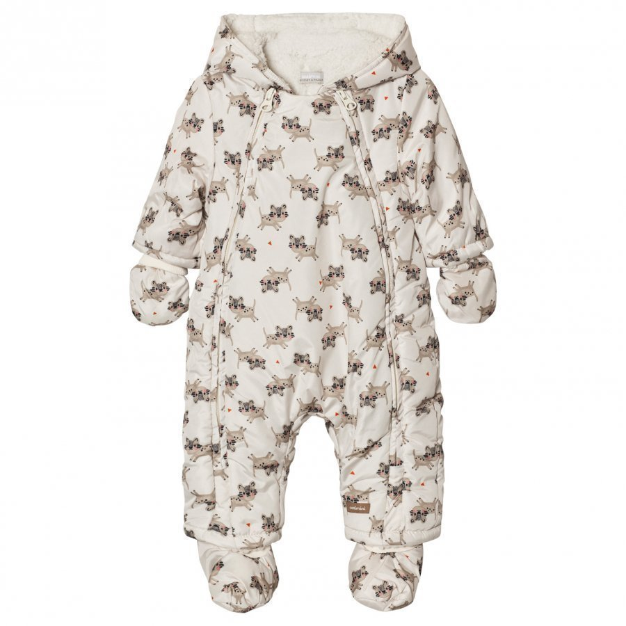 Catimini Cream Tiger Print Coverall Toppahaalari