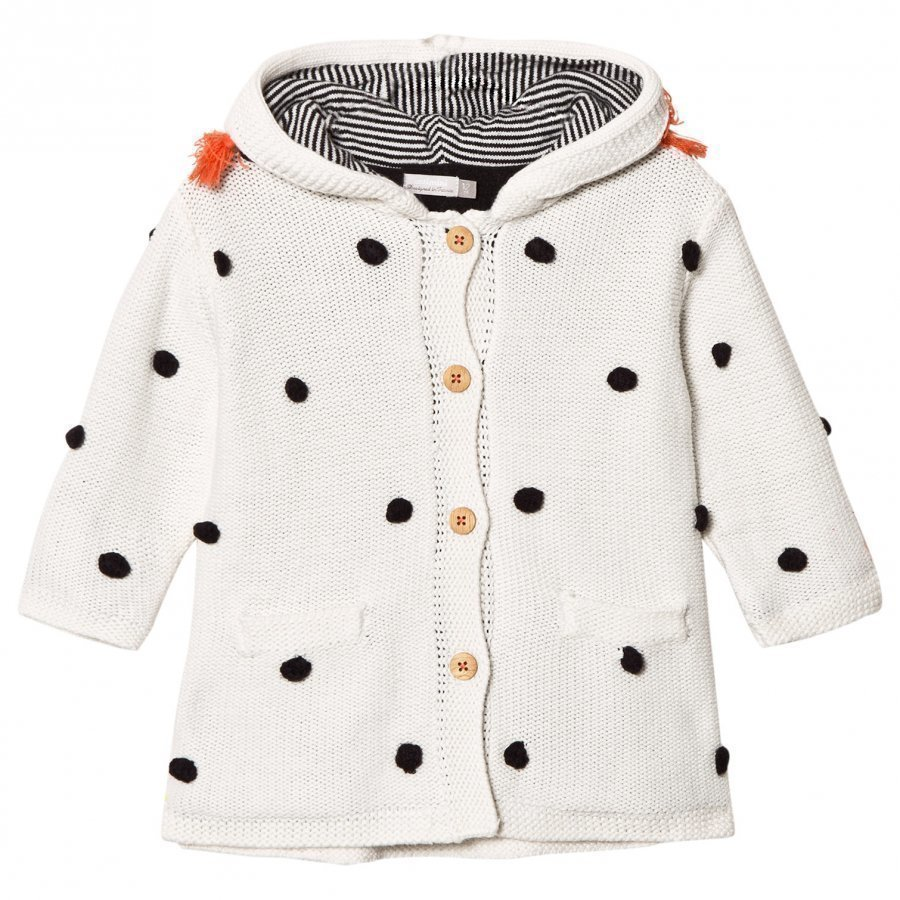 Catimini Ecru Bobble Hooded Coat Neuletakki