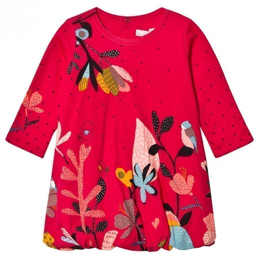 Catimini Fuchsia Floral Bubble Dress Mekko