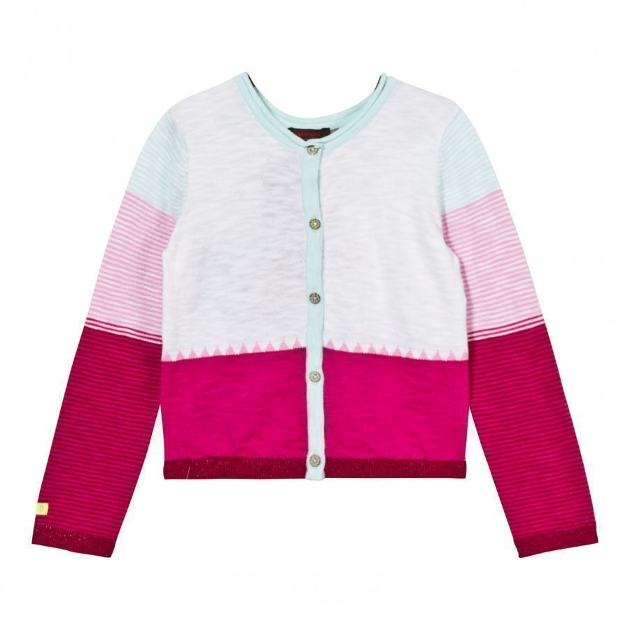 Catimini Multi Colour Block And Parrot Back Cardigan Neuletakki