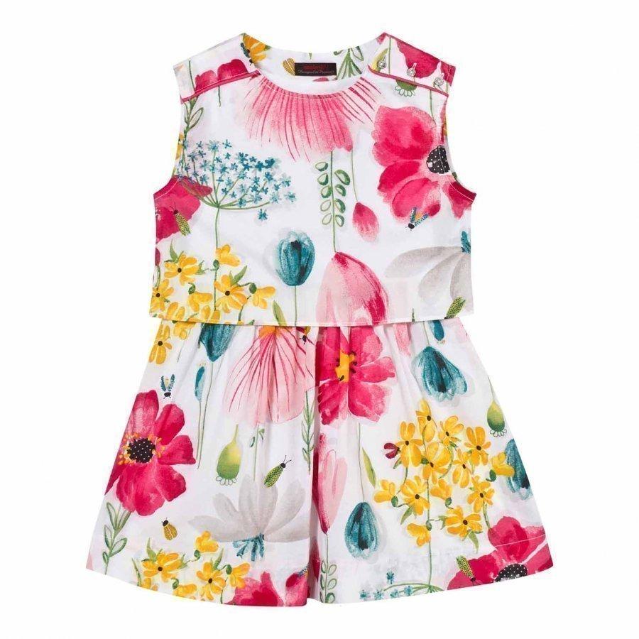 Catimini Multi Floral Print Dress Mekko