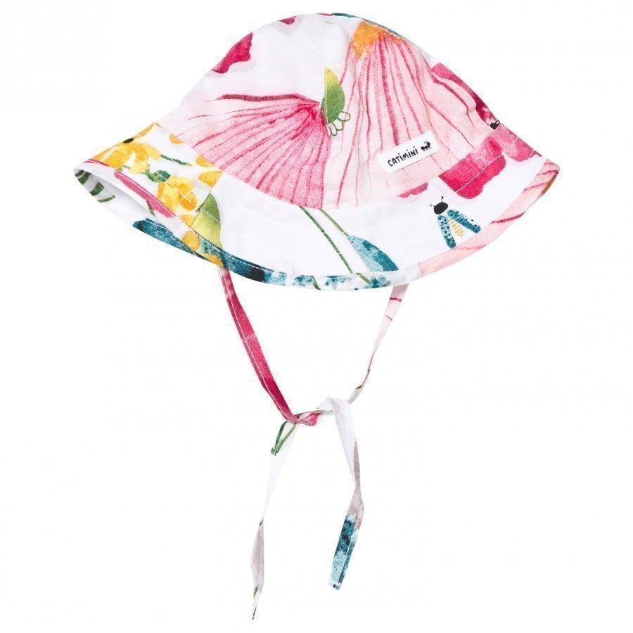 Catimini Multi Floral Print Sun Hat Aurinkohattu