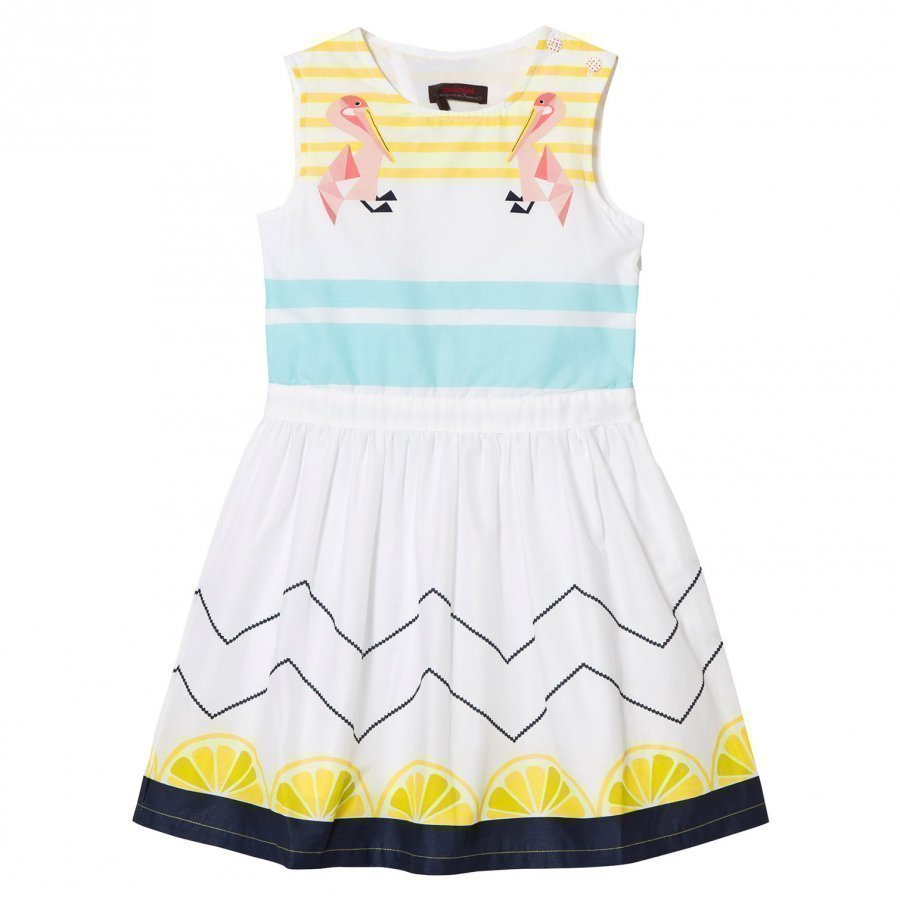 Catimini Multi Lemon And Pelican Print Dress Mekko