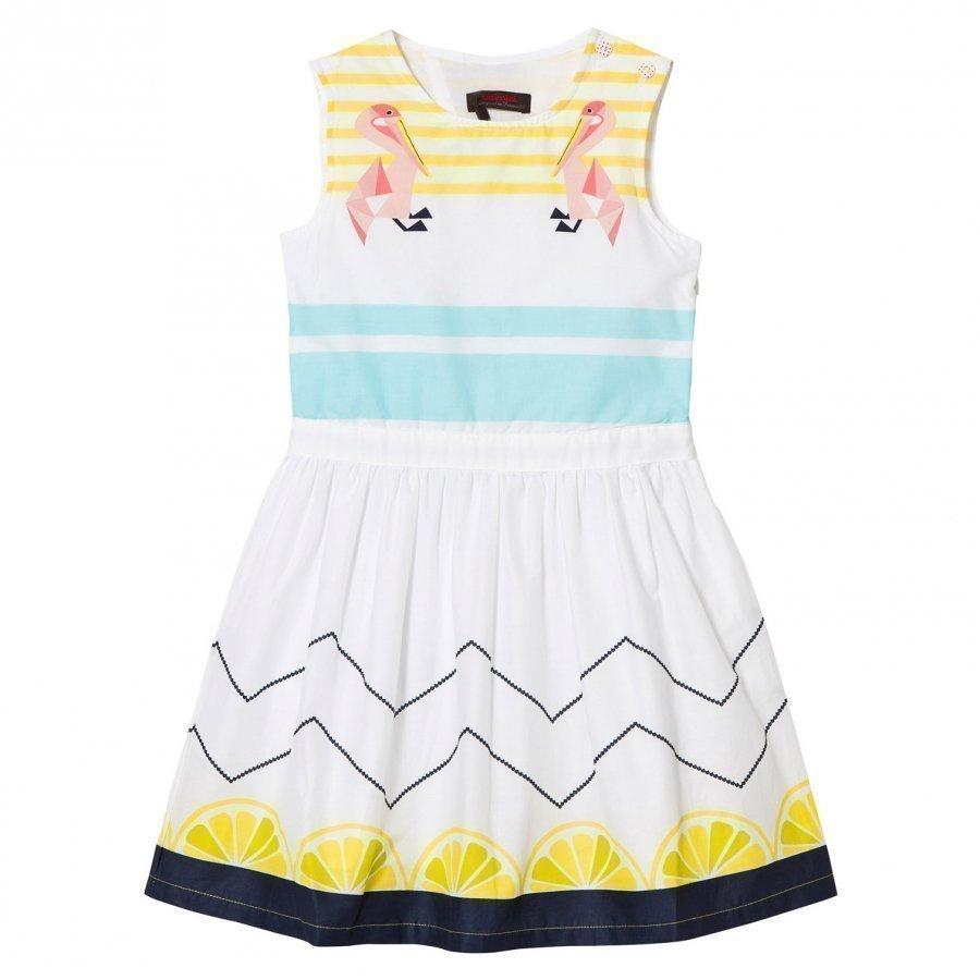 Catimini Multi Lemon And Pelican Print Dress Mekko