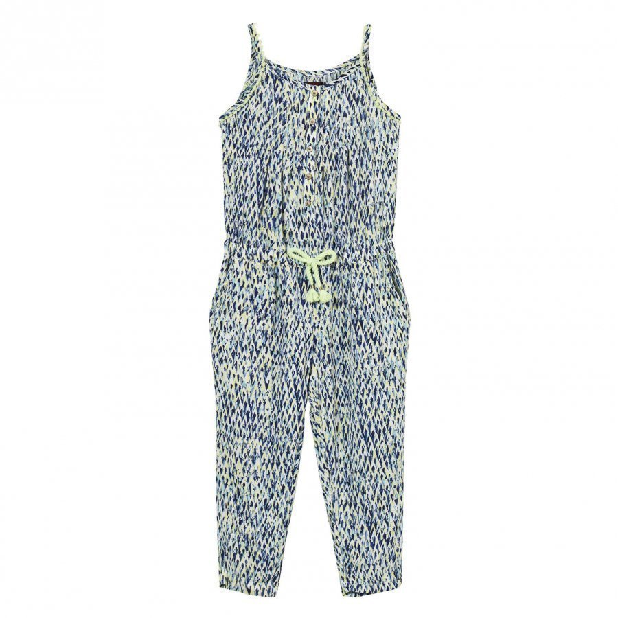 Catimini Navy And Green Multi Print Jumpsuit Potkupuku