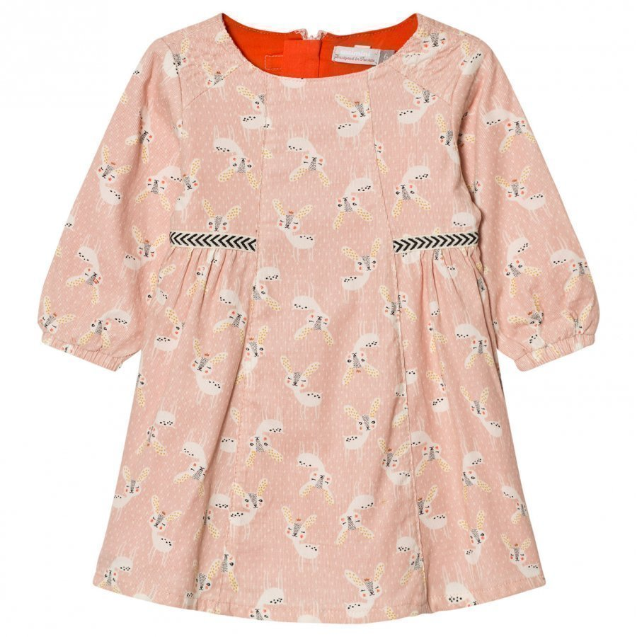 Catimini Pink Deer Print Dress Mekko