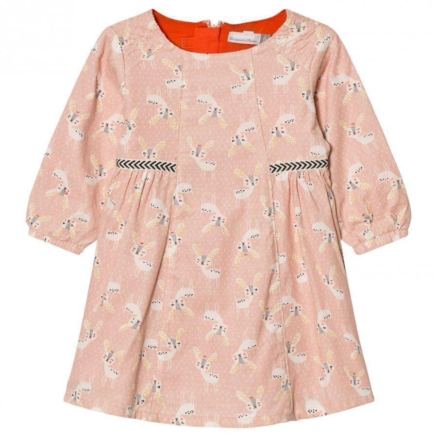 Catimini Pink Deer Print Dress Mekko