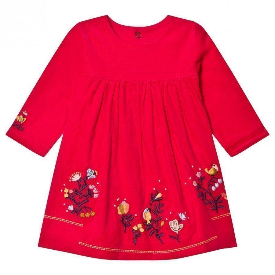 Catimini Pink Floral Micro-Cord Dress Mekko