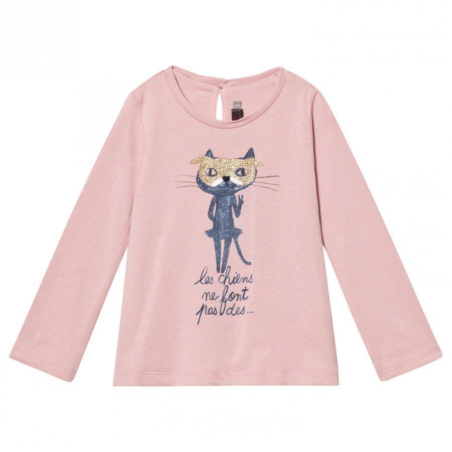 Catimini Pink Glitter Cat Tee T-Paita