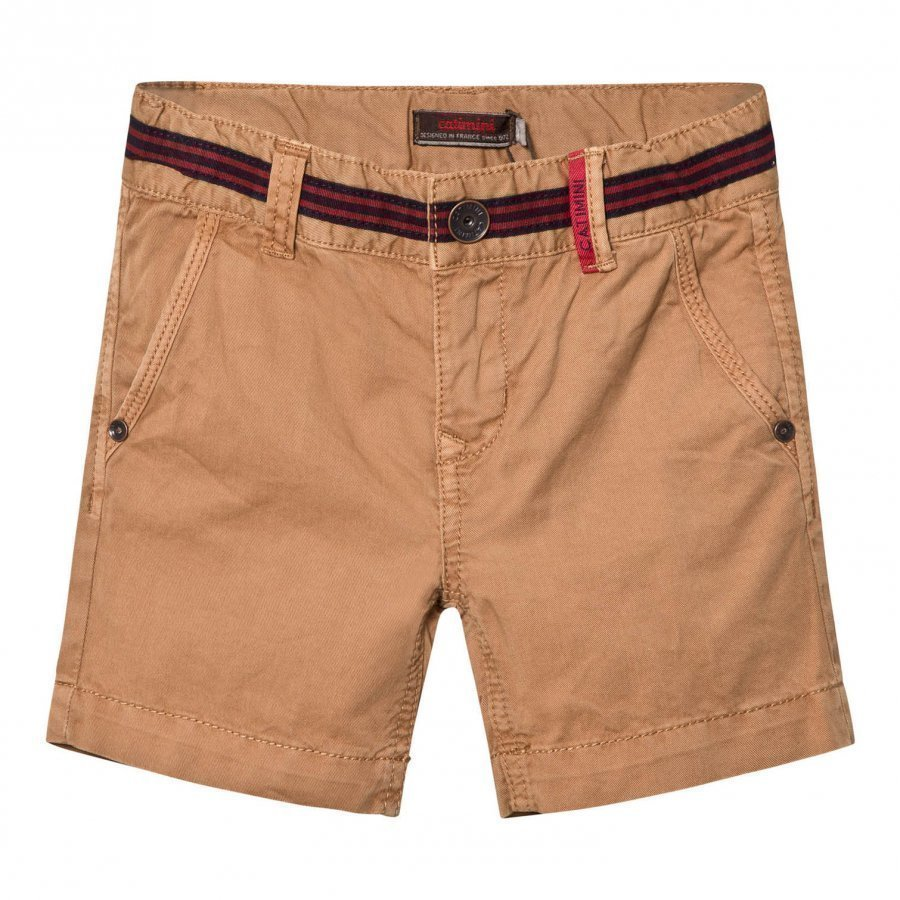 Catimini Tan Shorts With Stripe Waist Detail Shortsit