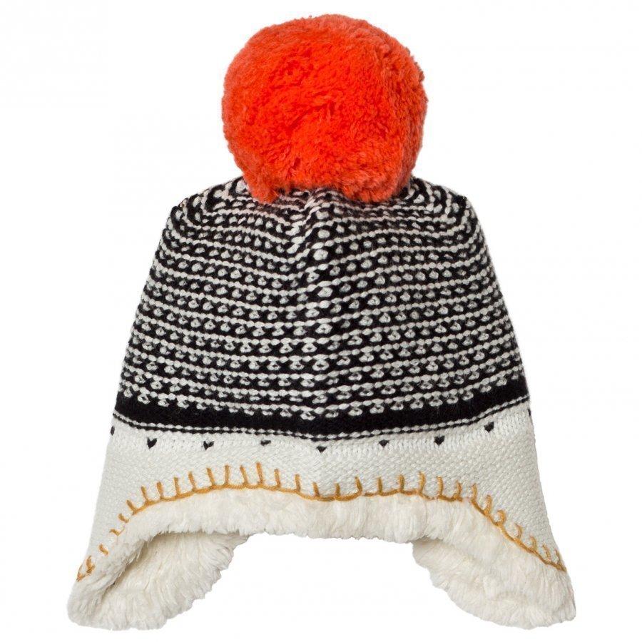 Catimini Unisex Multi Knit Pom Pom Hat With Teddy Lining Pipo